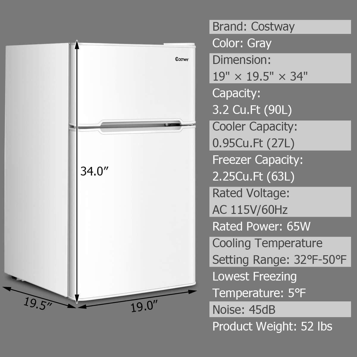 4- COSTWAY Compact Refrigerator.