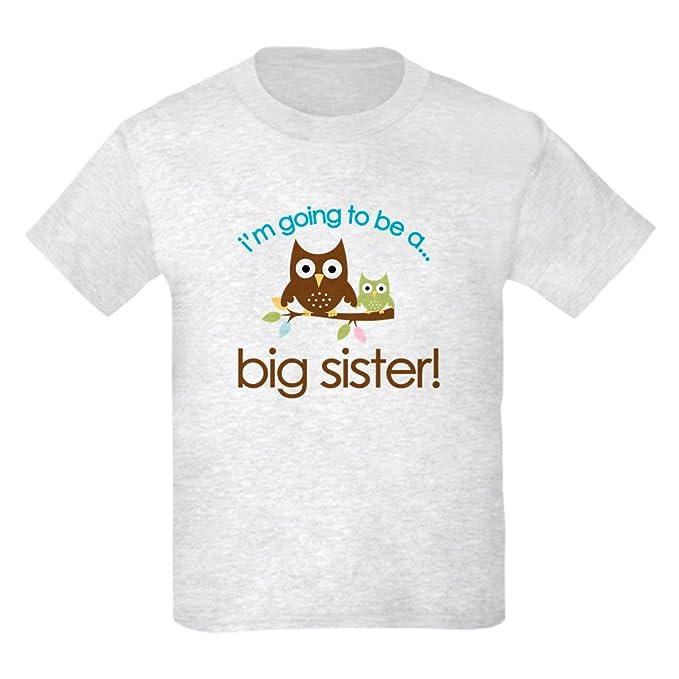 62fa35cd345f2b Amazon.com  CafePress - i m going to be a big sister owl shirt Kids ...