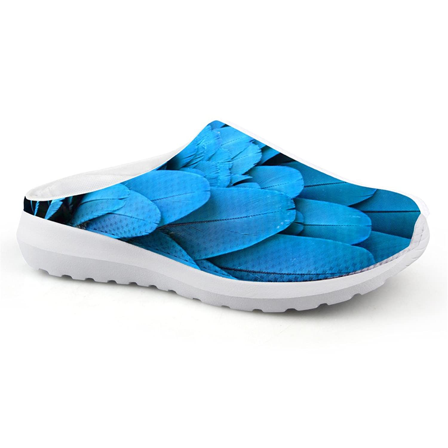Unisex Clogs, 3D Printing Graphic Comfortable Convenience Men's Beach Sandals Mesh Loafer Slippers (Color : COLOR2, Size : 10 US Man)