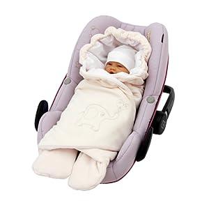 ByBoom® - Couverture enveloppante d'été, universelle pour coques bébé, sièges auto, par ex. Maxi-Cosi, Römer, pour landaus, poussettes ou lits bébé