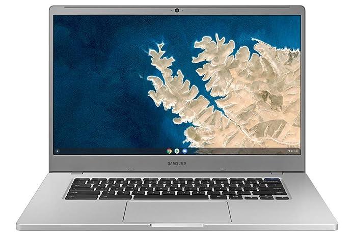 """Samsung Chromebook 4+, 15.6"""" Full HD, Intel Celeron, 6GB RAM, 64GB eMMC, Silver - XE350XBA-K03US"""