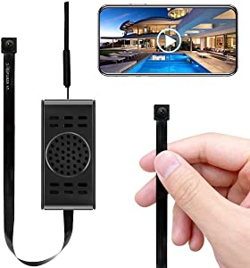 Spy Camera WiFi Hidden Cameras with Motion Detection, Mini Wireless Remote Live View with Free Phone App Full HD 1080P, Easy Setup Security Cam for Home, Nanny, Car, Office, Room, Indoor