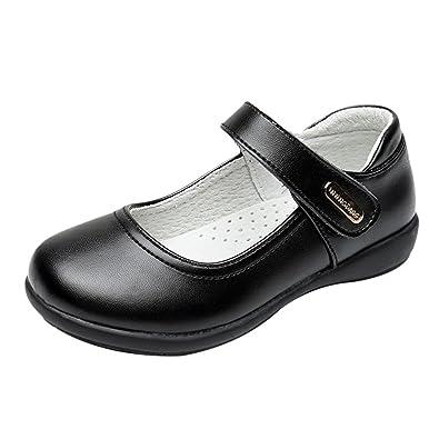 Zhhlinyuan Fashion Kids Etiquette Casual Shoes Big Jungs Soft PU Leather Non-Slip Shoes voYwBXPSt