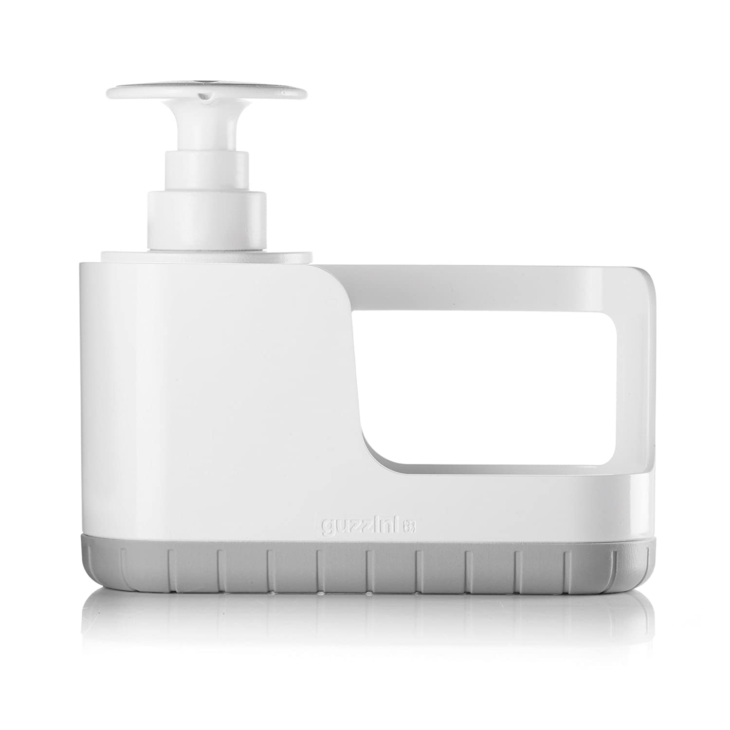 Guzzini My Kitchen Sink Tidy Caddy with Soap Dispenser, 7-1/2-Inches, Matte Grey 29040133