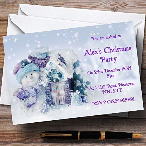 garantía de crédito 90 90 90 Invitations Lindo muñeco de nieve y copos Navidad personalizable invitaciones de fiesta – XI9  Entrega rápida y envío gratis en todos los pedidos.
