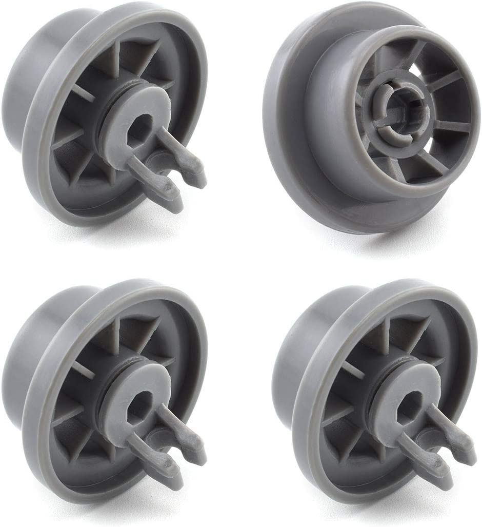 SDTC Tech 4 Pack 165314 Dishwasher Lower Rack Wheel Replacement Part Dishwasher Basket Rail Roller Wheels Compatible with 420198 423232 AP2802428 PS3439123