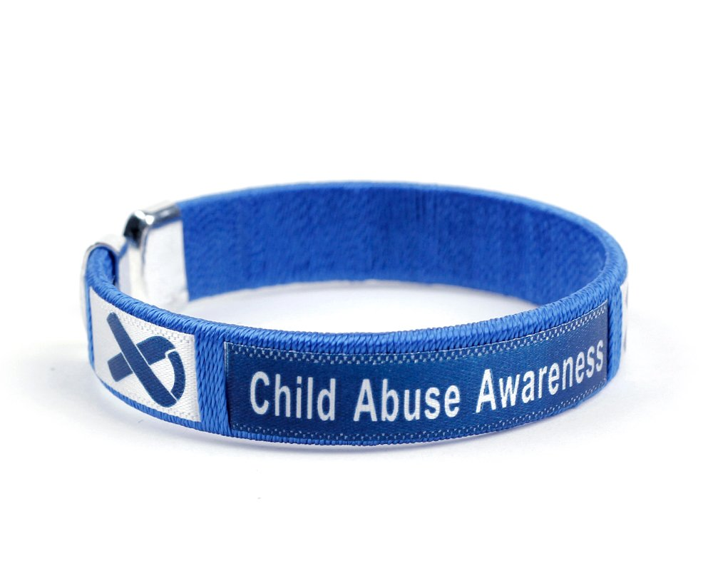 Fundraising For A Cause 25 Pack Child Abuse Awareness Bangle Bracelets (Wholesale Pack - 25 Bracelets)