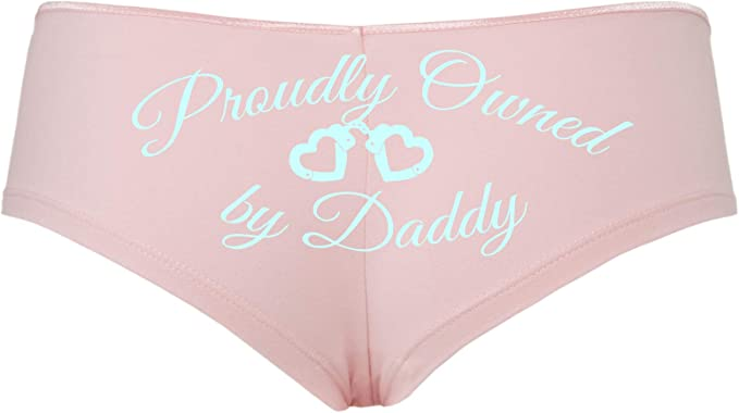 Knaughty Knickers BDSM DDLG Proudly Owned Boyshort for Baby Girl Princess