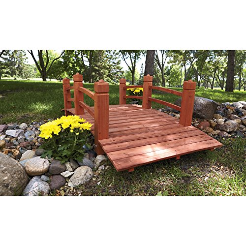 Small Bridges: Consumer Sales Network 5-Ft. Long Wooden Decorative Garden