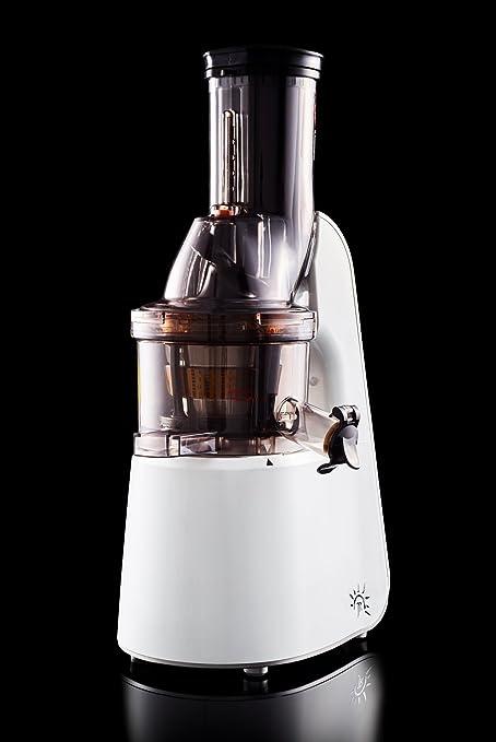 JR Ultra 8000 S - Exprimidor de zumo multiusos de prensado lento Alpine White With Silver