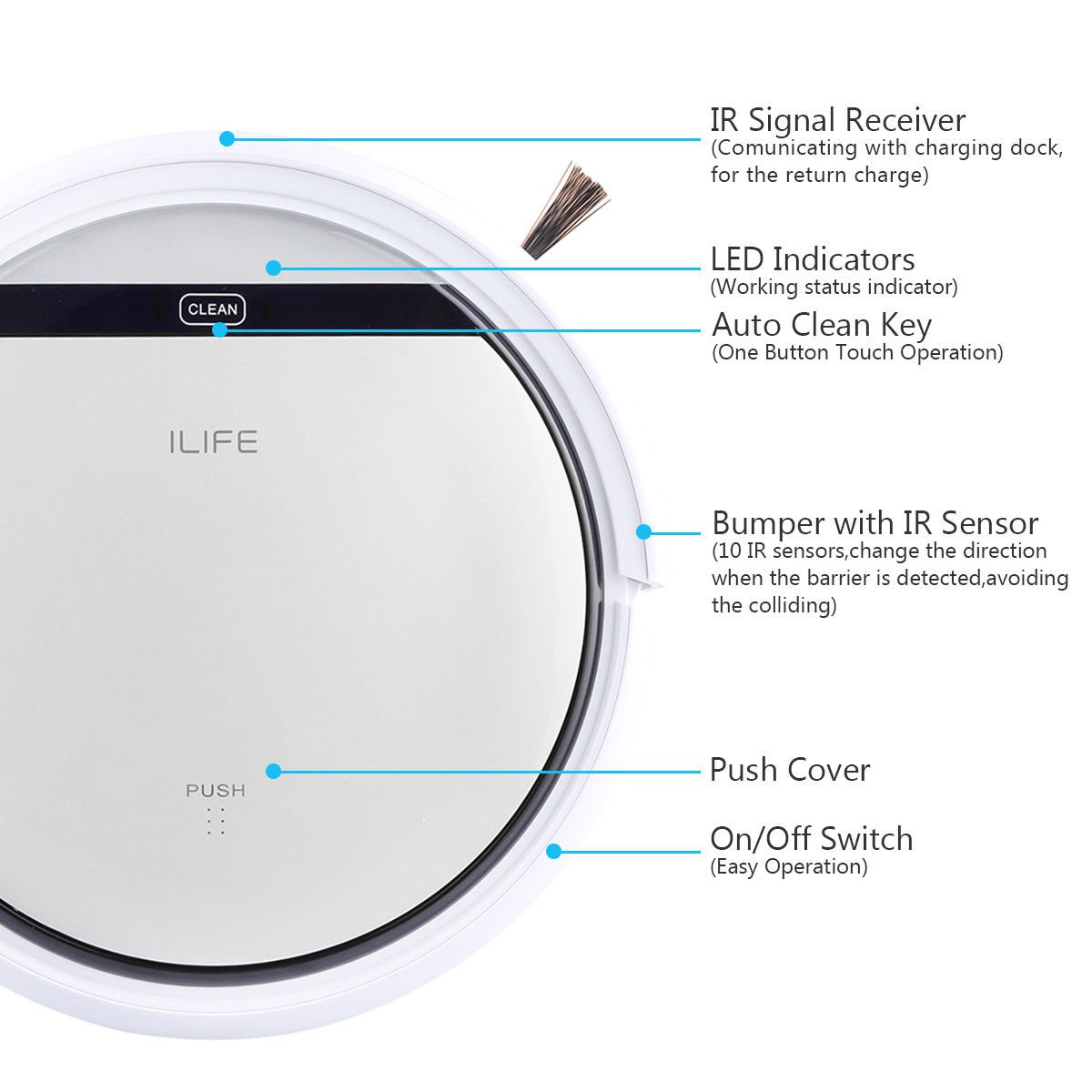 Cleaner Smart Robot Vacuum Cleaning Floor Auto Dust Microfiber Robotic Sweeper Mop Automatic by Alek...Shop (Image #7)