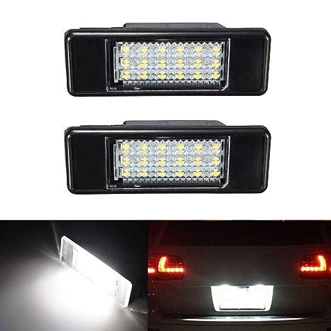 GOFORJUMP 2pcs luz Blanca de la Placa Posterior del Coche del LED para P/eugeot