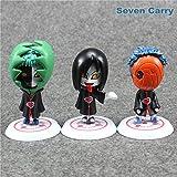Game, Fun, 11pcs Naruto Akatsuki Uchiha Itachi Madara Sasuke Hidan Orochimaru Tobi Pein Deidara Q Ver PVC Action Figure Model Toy 8cm CSHC5, Toy, Play