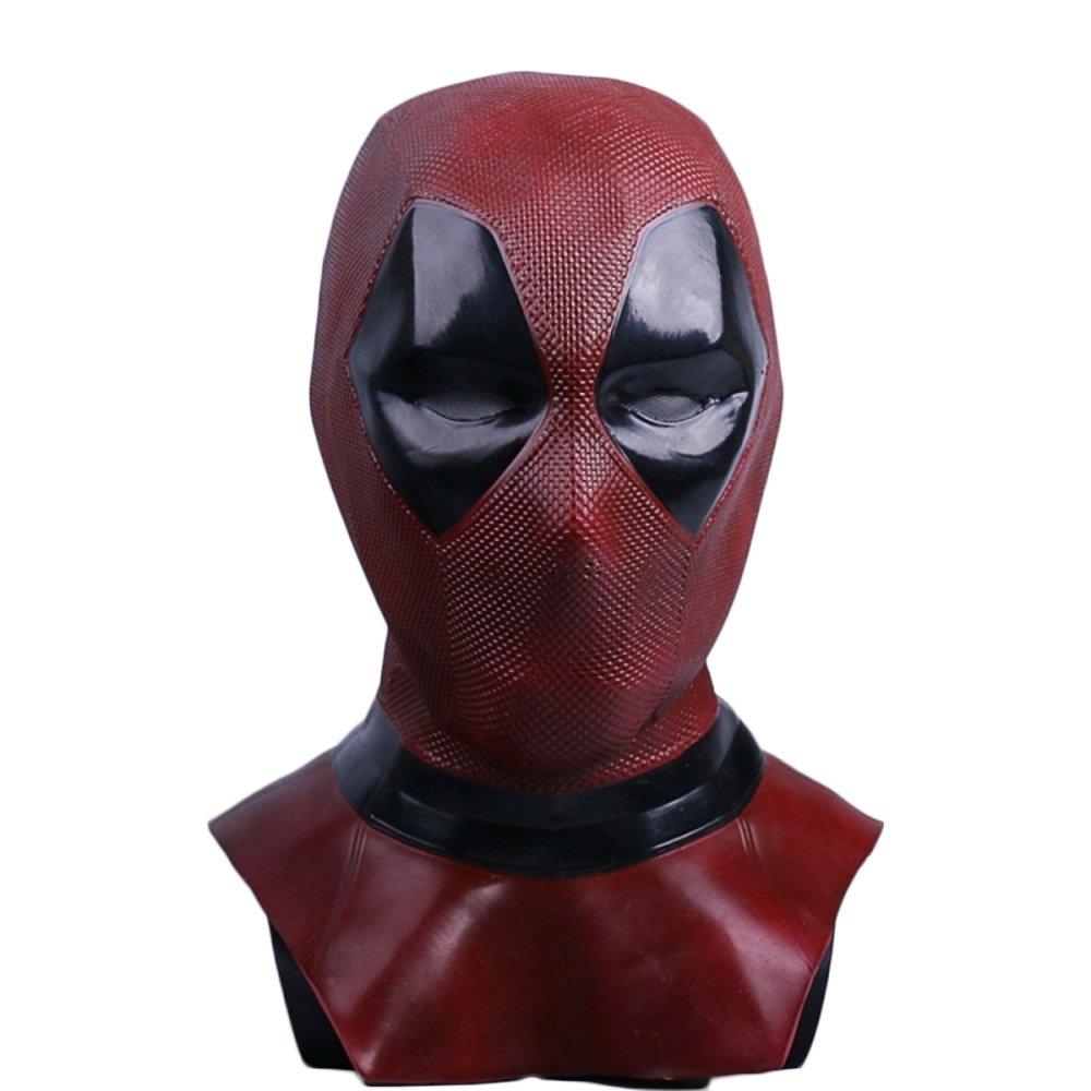 nihiug Deathmaid 2 Deadpool Mask Headgear Halloween Props Cosplay,A-OneSize