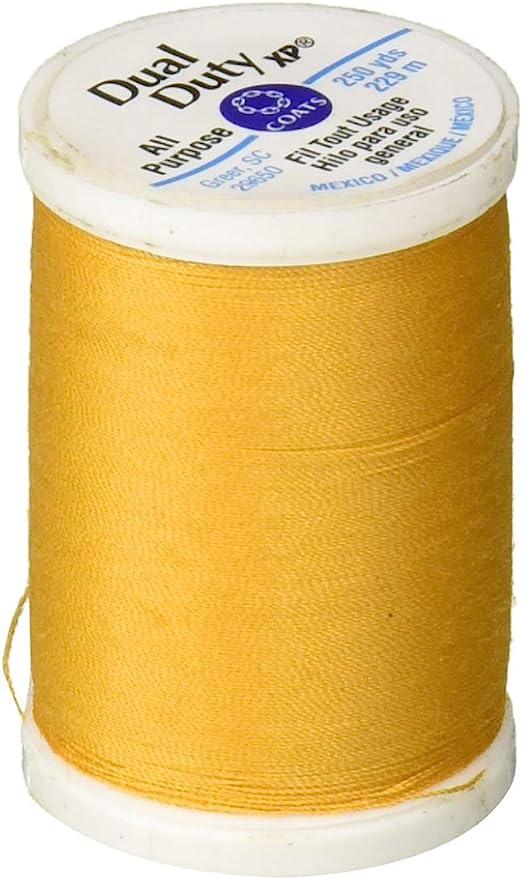 Brown Sugar 250-Yard Coats Thread /& Zippers and Dual Duty XP General Purpose
