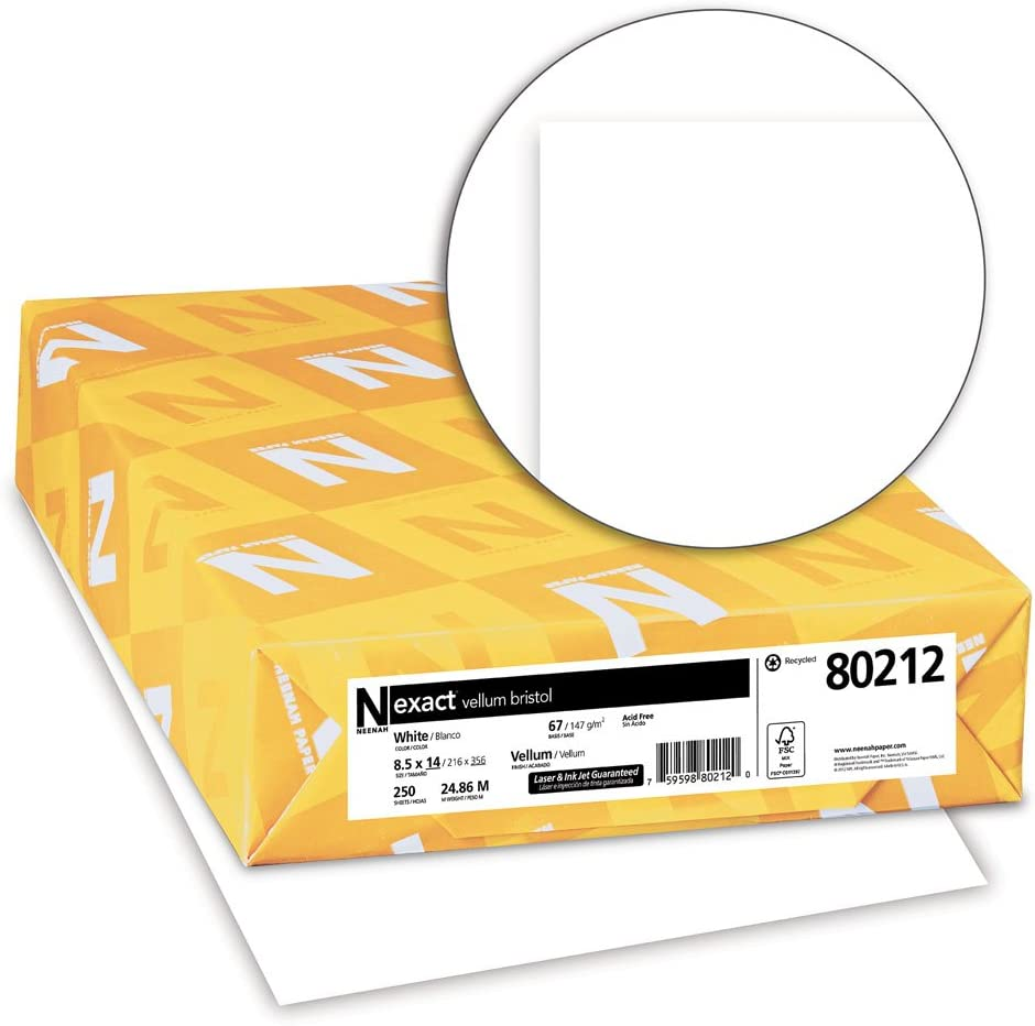 "translucent White Sub 17 Smooth Finish Package of 50 8.5/"" x 11/"" vellum paper"