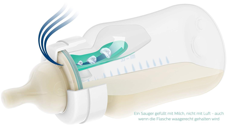 Philips Avent Anti-colic Flasche mit AirFree Ventil SCF813//14 transparent 1er-Pack 260ml