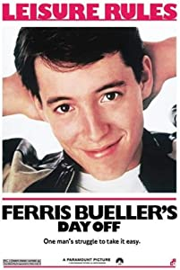 Ferris Buellers Day Off Leisure Rules One Mans Struggle to Take It Easy Comedy Movie Cool Wall Decor Art Print Poster Vintage Metal Tin Sign 12 x 8 Inch