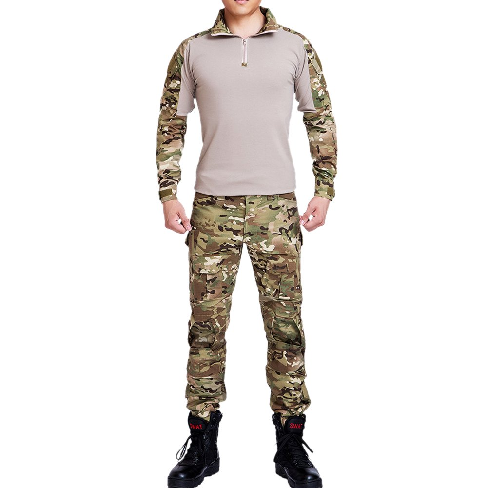 MNBS Hombres del Ejército Airsoft Paintball Tactical camisa y ...