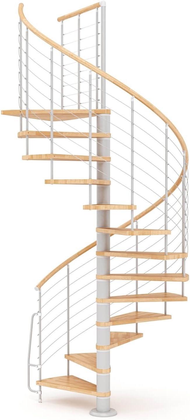 Escalera de caracol de madera mobirolo Vogue Natural y gris varios tamaños: Amazon.es: Bricolaje y herramientas