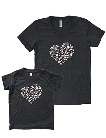 660da8caad Matching Mother Daughter Valentines Day Set Triblend Shirts Tshirt at  Amazon Women s Clothing store