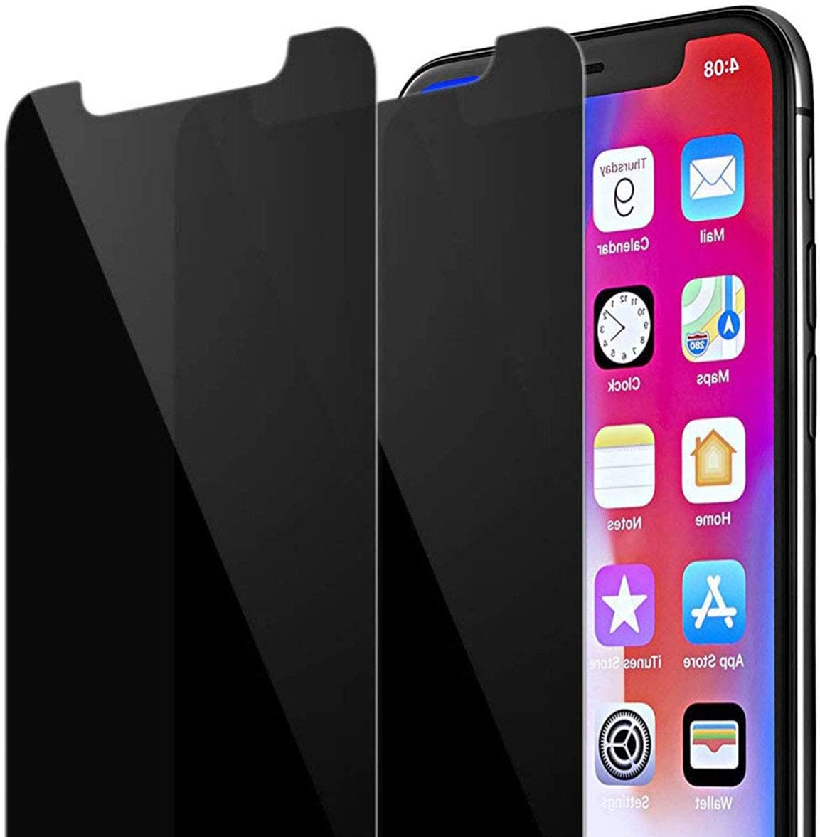 Ankoe Privacy Screen Protector for iPhone 11 Pro Max/iPhone Xs Max, Anti Spy Tempered Glass, Easy Install, Free Bubbles, Case Friendly, [2-Pack 6.5-Inch] (2 Pack)