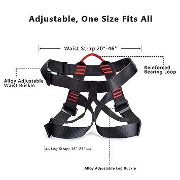 Arnés de Escalada, Medio Cuerpo seguras Cinturones de Seguridad ...
