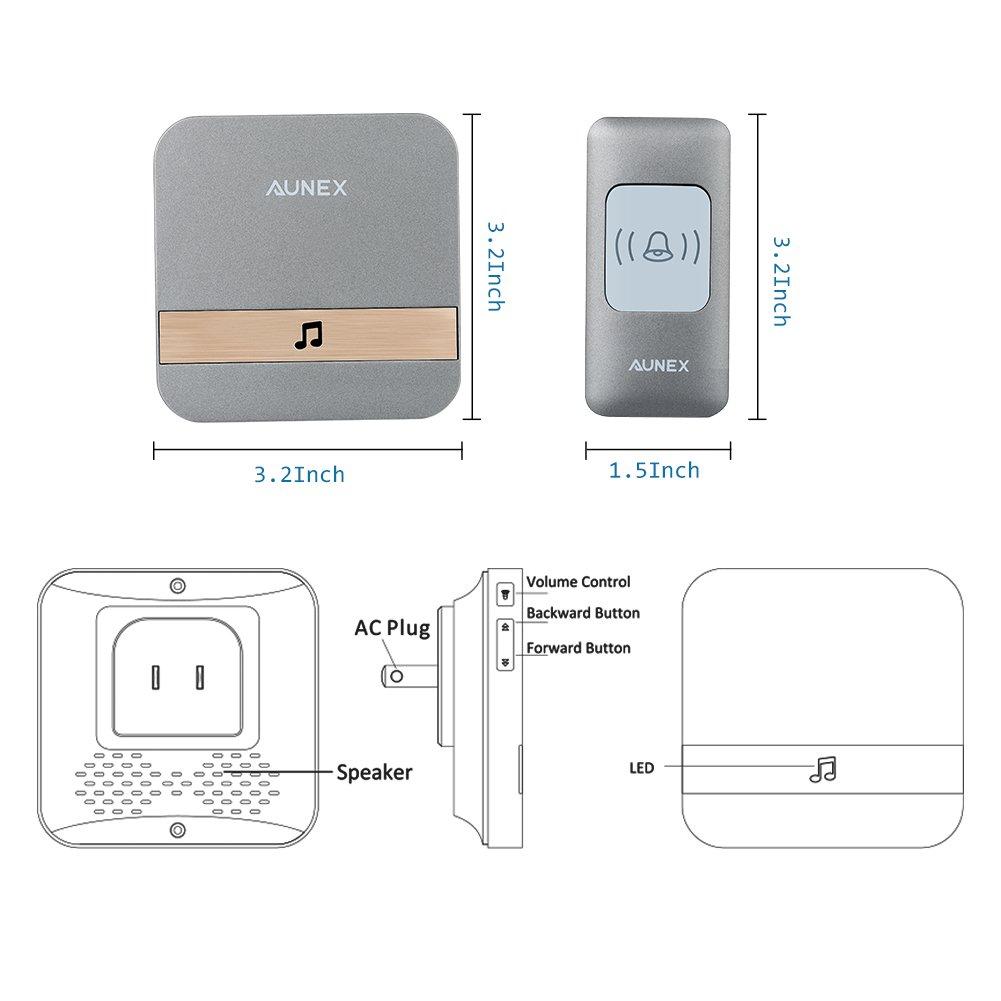 Upgraded Video Doorbellwifi Wireless Doorbell Camera 720p Hd Circuit Diagram Security Pir Motion Detection Night Vision