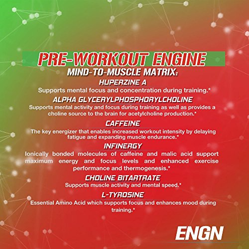 Evlution Nutrition ENGN Pre-Workout, Pikatropin-Free, 30 Servings, Intense Pre-Workout Powder for Increased Energy, Power, and Focus (Cherry Limeade)