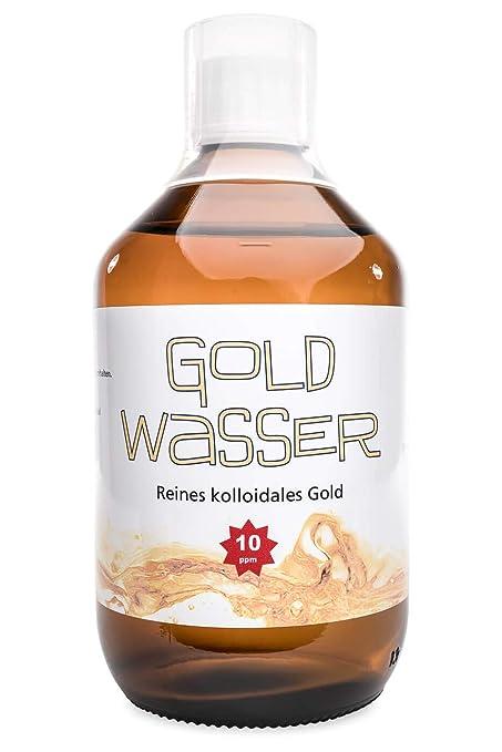 ? Kolloidales Gold ? 500ml / 10ppm ? Rosa Goldwasser ? HVAC-Herstellung in Laborumgebung ? Braunglasflasche ? Messbecher