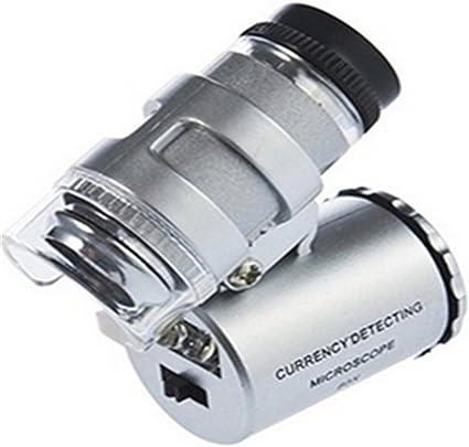 Microscope Portable 60x Avec Lumière Loupe De Poche Loupe Détecteur De
