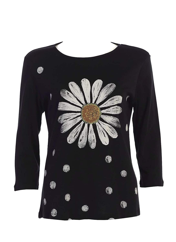 Jess /& Jane Womens Happy Days Cotton Tee Shirt Top