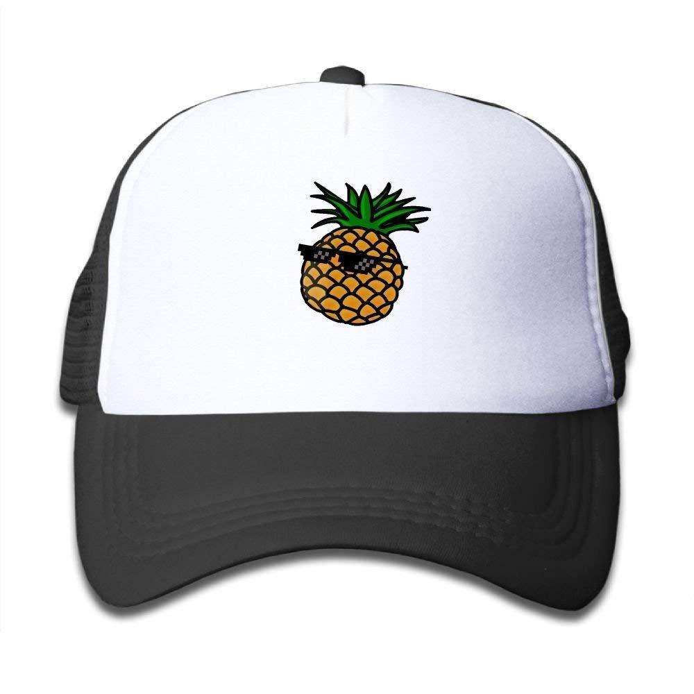 FEAIYEA Mesh Baseball Caps Boy/&Girl Youth Snapback Hats Glasses Pineapple