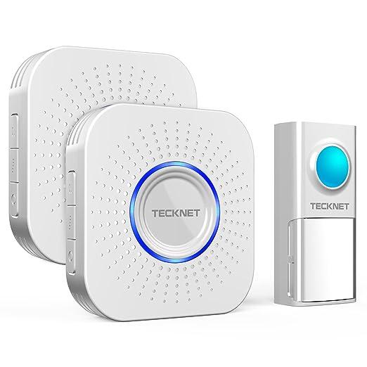 74 opinioni per Campanello Senza Fili Impermeabile, TeckNet Campanello Wireless Doorbell