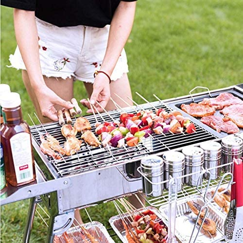 Barbecue, Ménage Barbecue en acier inoxydable for 5 ou plus Outils Barbecue Barbecue au charbon plein jour, 122x74x31cm @ (Taille: A) (Taille: D) HAOSHUAI (Size : A)