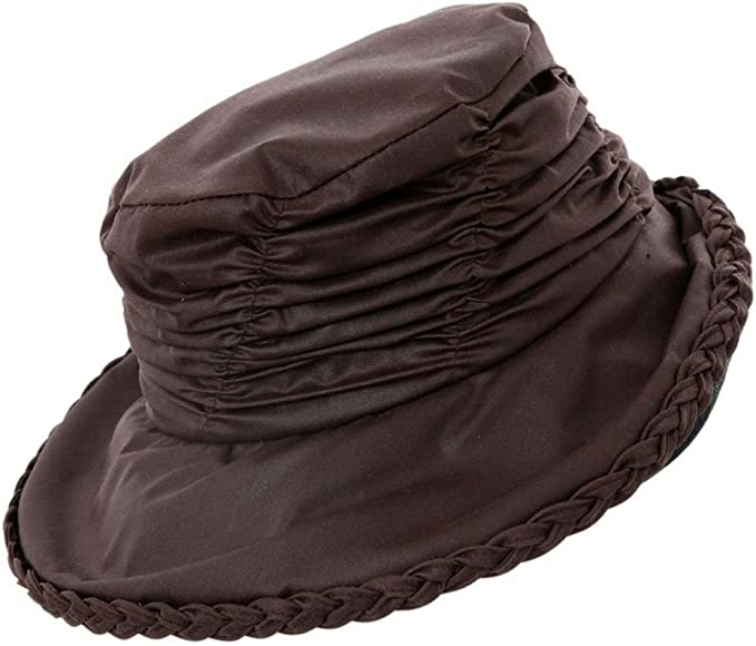 Ladies Rouched Wax Waterproof Country Rain Hat in 4 Colours /& 2 Sizes