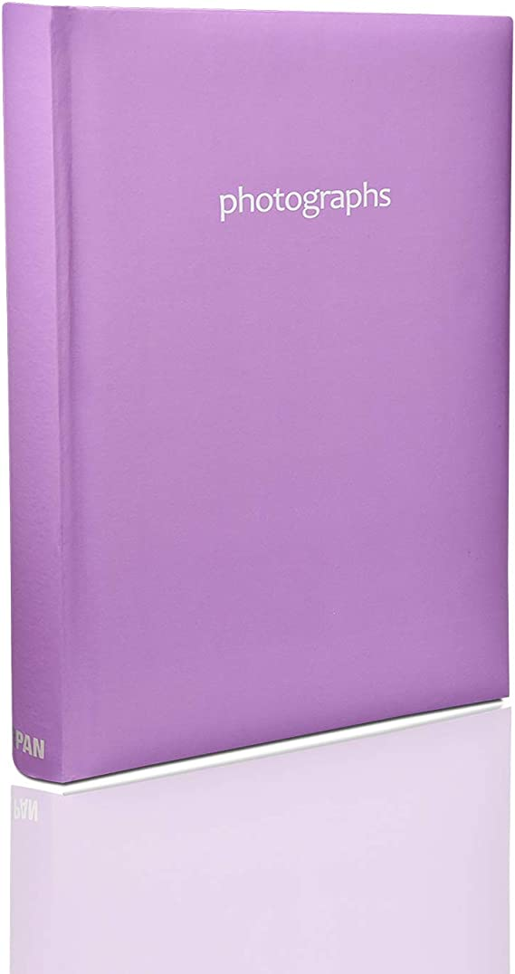 """Classic Large Green Slip In Photo Album Holds 300 6/"""" x 4/"""" Photos Memo Area Gift"""