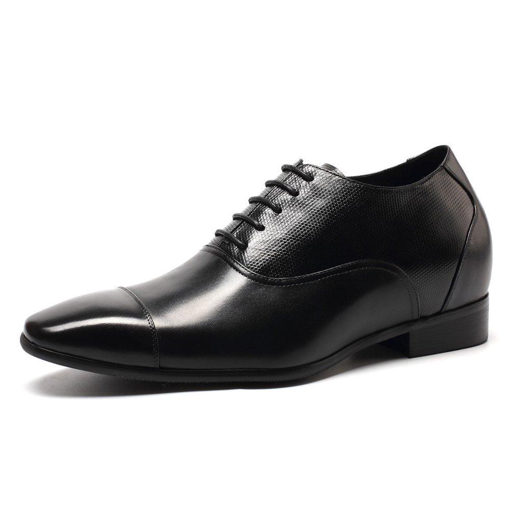 CHAMARIPA Aufzug Männer Höhe Erhöhen Leder Leder Leder Oxford Schuhe Business Arbeit Büro Hochzeit Schnürschuhe Unsichtbare Herren B07487L255  8d8810