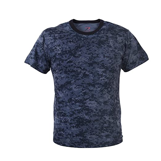 86724013 Image Unavailable. Image not available for. Color: Rothco Mens Digital Camouflage  T-Shirt, Midnight Blue ...