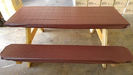Amazon Com Embossed Pattern Stretch To Fit 3 Pc Vinyl Picnic Table