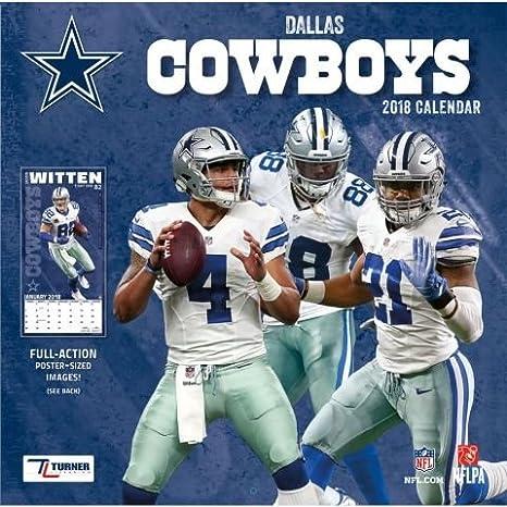Amazon 2018 Dallas Cowboys Nfl Sports Team Wall Calendar