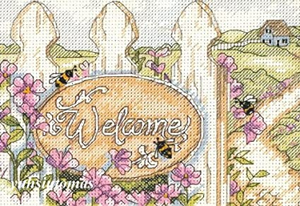 Counted Cross Stitch Kit Welcome