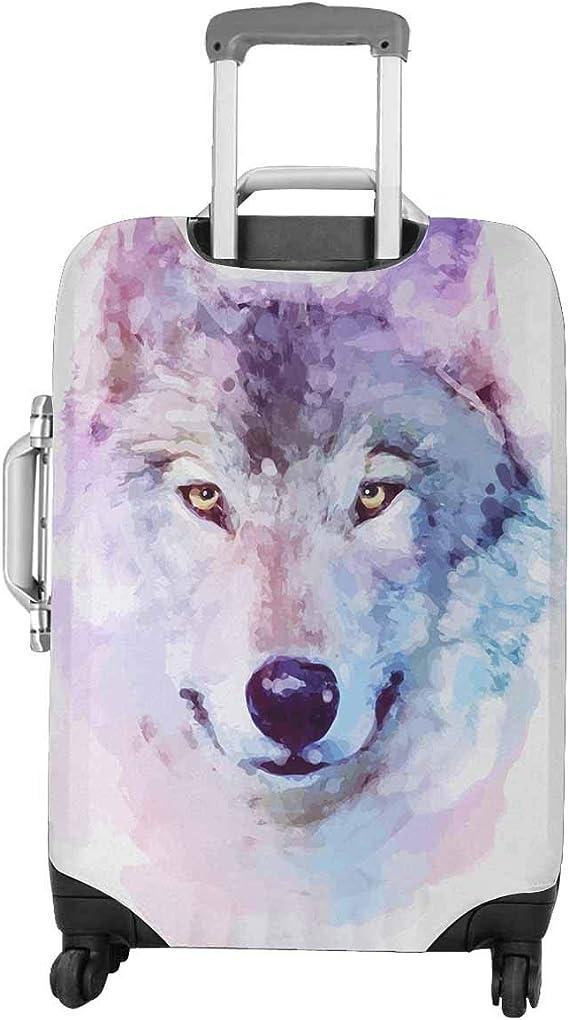 Purple Paint Marble Travel Suitcase Protector Zipper Suitcase Cover Elastic