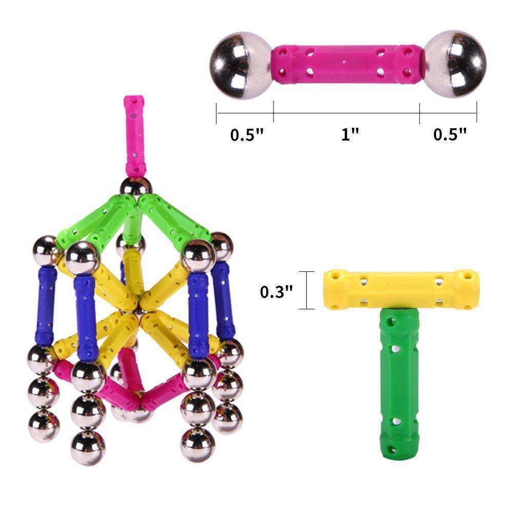 Blocs de Construction 206 Pièces Magnétique Bâtons Educational Toys Set (206pcs)