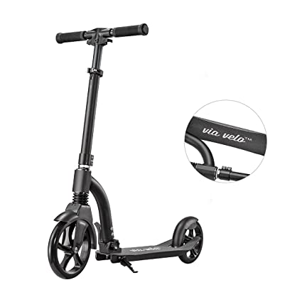 Amazon.com: Kick Scooter Rojo con suspensión delantera – a ...