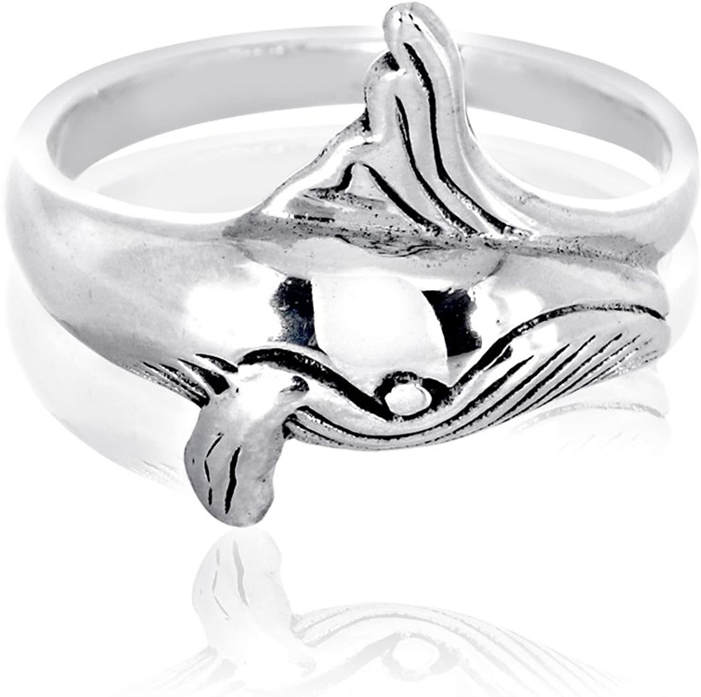 Princess Kylie 925 Sterling Silver Waving Turtle Ring