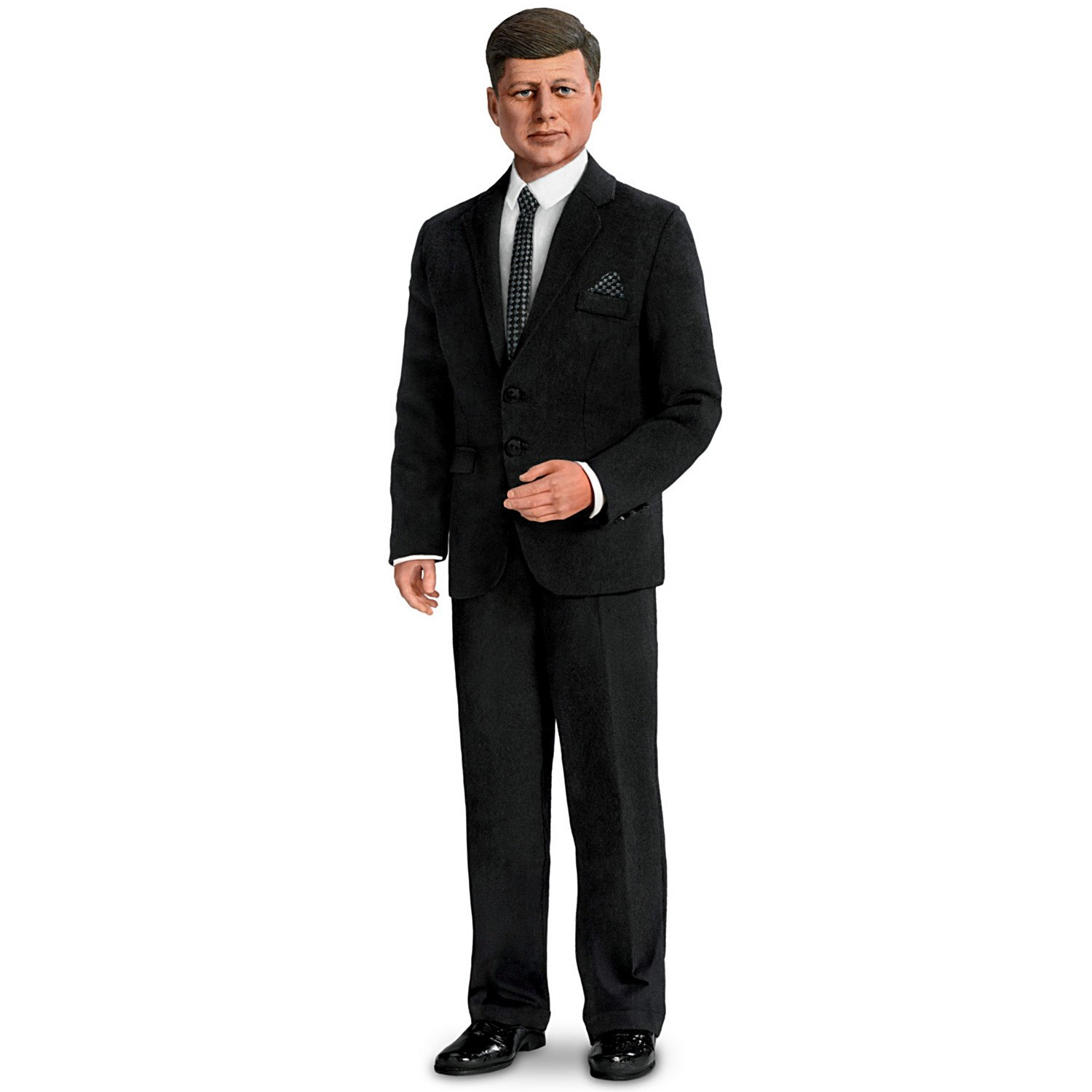 15'' President John F. Kennedy Poseable Talking Doll with Doll Stand by The Ashton-Drake Galleries
