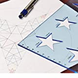Star Stencil Template, Made of Hard Plastic, Built
