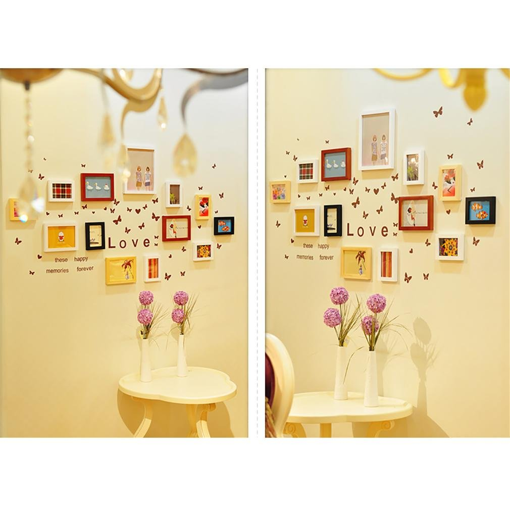 WillST Multi Picture Photo Frames Home Wall Decoration Wooden Frame Set Of 13pcs Picture by Unknown (Image #5)