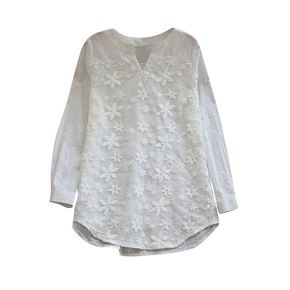 FAMILIZO_Camisetas Mujer Manga Larga Verano Tops Mujer Primavera Camisetas Mujer Largas Otoño Camisetas Mujer Larga Algodon